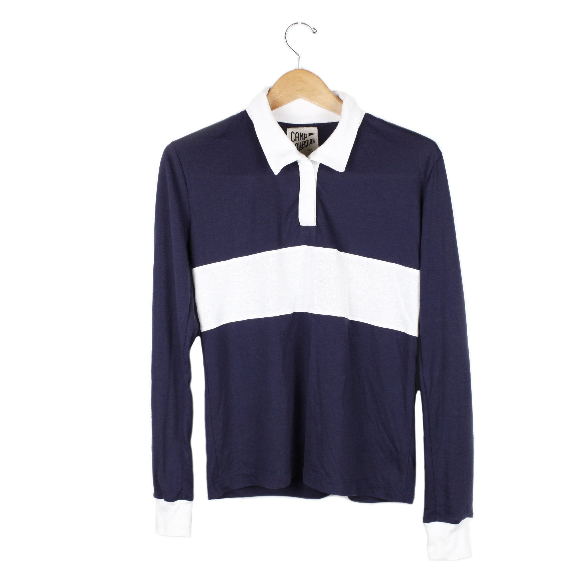 Miller Polo (view more colors) - SMALL / NAVY / VINTAGE WHITE - CAMP Collection - 1