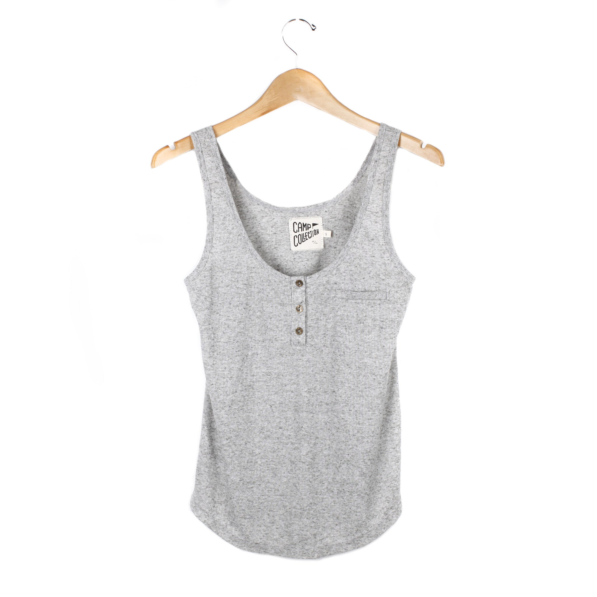 Henley Tank - SMALL / HEATHER GREY - CAMP Collection - 1