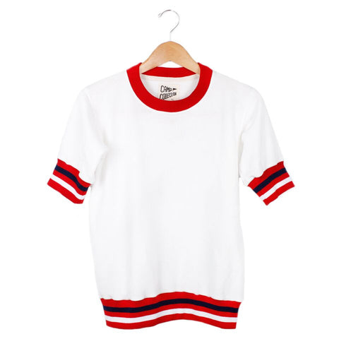 Unit Head Sweatshirt - SMALL / VINTAGE WHITE / RED - CAMP Collection - 1