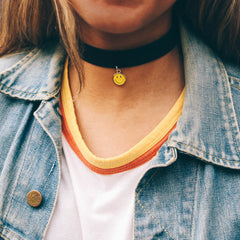 SMILEY FACE CHOKER -  - CAMP Collection - 2