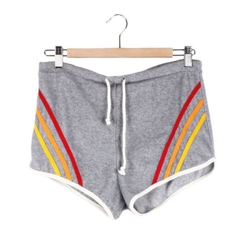Venice Beach Shorts - Small / GREY / STRIPE - CAMP Collection - 1