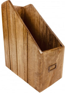 Solid Wood Magazine Organiser - Rustic-Furniture.co.uk