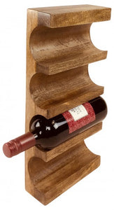 Wall Mounted Wooden Wine Rack - Rustic-Furniture.co.uk