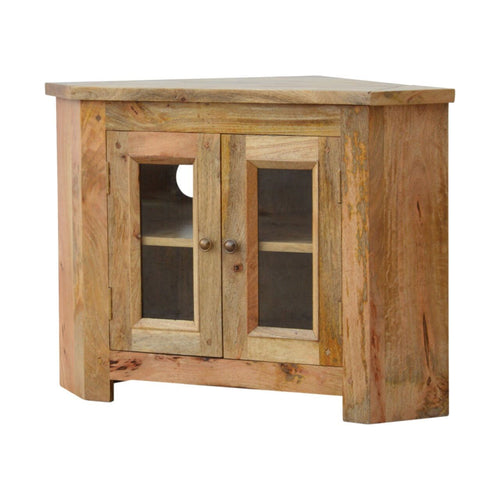 Royale 2 Door Corner TV Cabinet - Rustic-Furniture.co.uk
