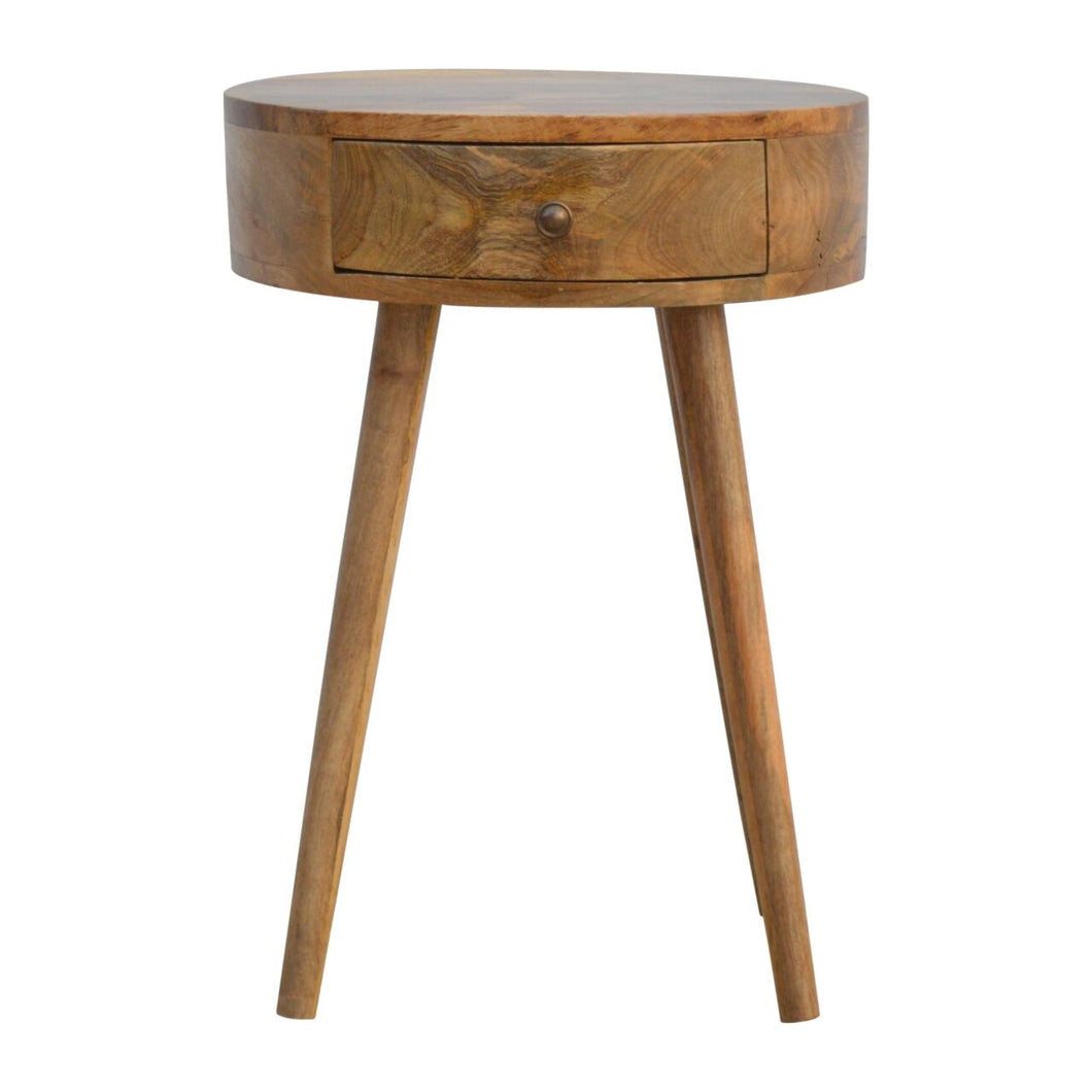 Nordic Circular Shaped Bedside - Rustic-Furniture.co.uk
