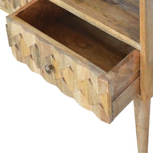Pineapple Carved Media Unit - Rustic-Furniture.co.uk