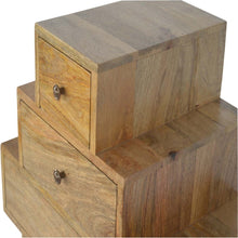 Load image into Gallery viewer, Solid Wood Tower Chest Cabinet - Rustic-Furniture.co.uk