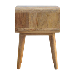 Curved Open Bedside - Rustic-Furniture.co.uk