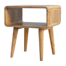 Load image into Gallery viewer, Curved Open Bedside - Rustic-Furniture.co.uk