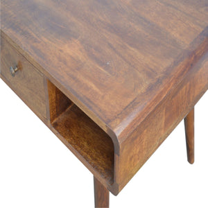 Curved Chestnut Coffee Table - Rustic-Furniture.co.uk