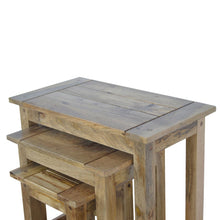 Load image into Gallery viewer, Solid Wood Set of 3 Nesting Tables - Rustic-Furniture.co.uk