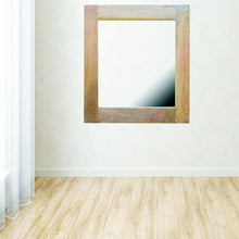 Load image into Gallery viewer, Square Wooden Frame with Mirror - Rustic-Furniture.co.uk