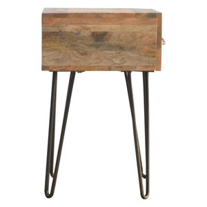 Iron Base Bedside - Rustic-Furniture.co.uk