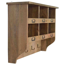 Load image into Gallery viewer, Hook & Hide Wall Mounted Unit - Rustic-Furniture.co.uk
