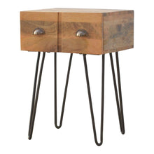 Load image into Gallery viewer, Iron Base Bedside - Rustic-Furniture.co.uk