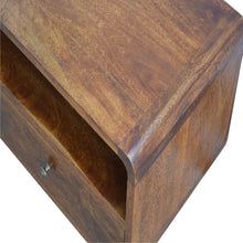 Load image into Gallery viewer, Curved Chestnut Media Unit - Rustic-Furniture.co.uk