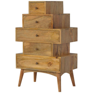 Solid Wood Tower Chest Cabinet - Rustic-Furniture.co.uk