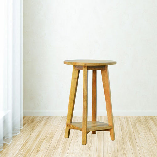 Oak-ish Bar Stool - Rustic-Furniture.co.uk