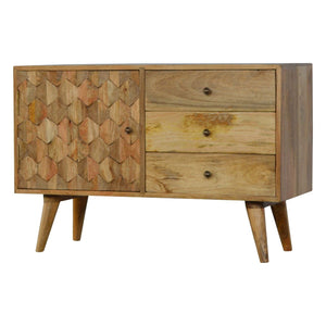 Pineapple Carved Sideboard - Rustic-Furniture.co.uk