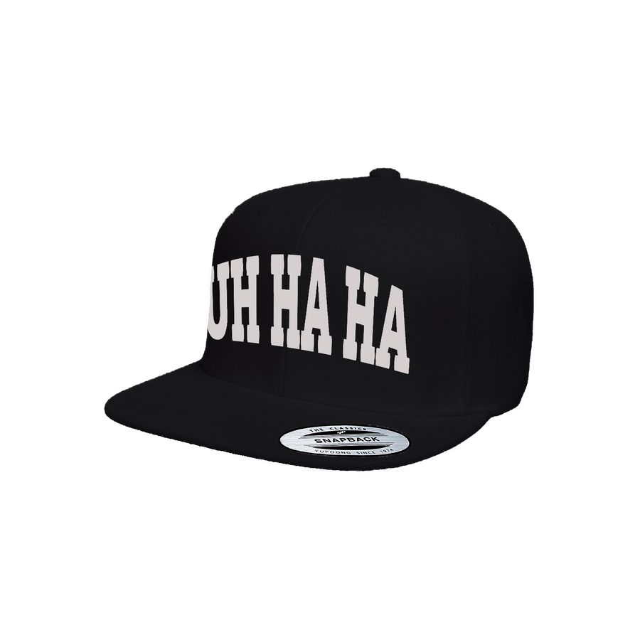 UH HA HA (Black/Silver) Snapback [Limited Edition]