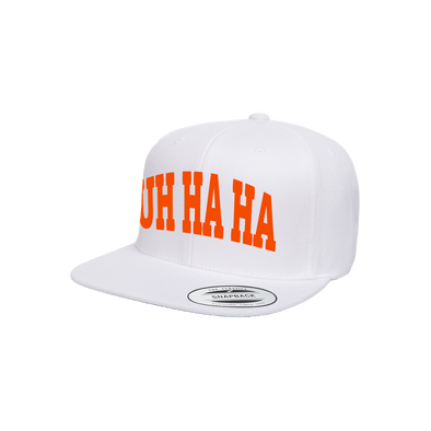 UH HA HA (White/Orange) Snapback [Limited Edition]