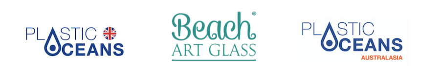 Plastic Oceans & Beach Art Glass logos