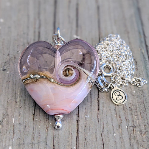 Seashell Heart Pendant