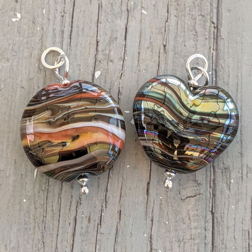 Silver Sunset pendants