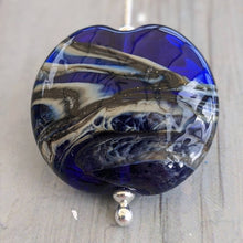 Load image into Gallery viewer, Rocky Beach Blue Lentil Pendant
