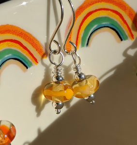 Tiny Rainbow Bead Earrings
