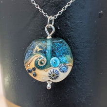 Load image into Gallery viewer, Starlight Lentil Pendant in teal