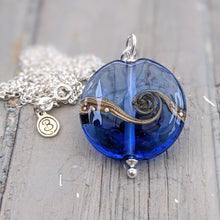 Load image into Gallery viewer, Pretty Blue Lentil Pendant