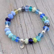 Load image into Gallery viewer, Shades of Blue Bead Bracelets