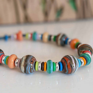 Strata Necklace of Colours