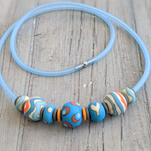 Load image into Gallery viewer, Matt Spots & Stripes Necklace