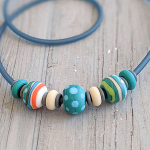 Matt Spots & Stripes Necklace
