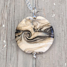 Load image into Gallery viewer, Rocky Beach Ivory Large Lentil Pendant
