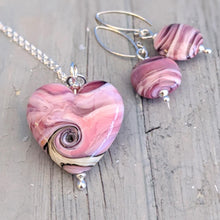 Load image into Gallery viewer, Pink Streaky Heart Pendant