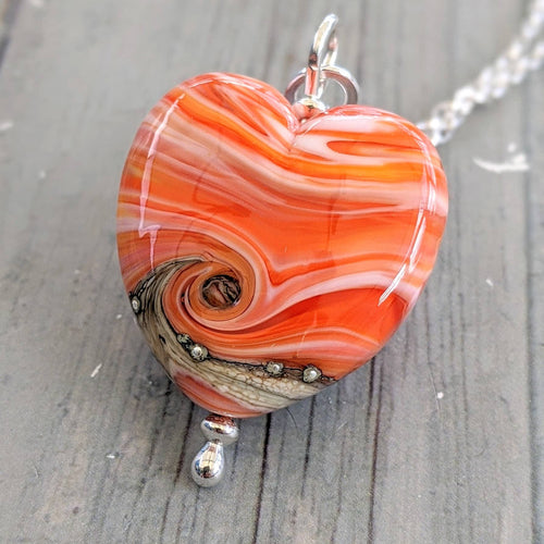 Seaside Sunset Medium Heart Pendant