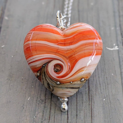 Seaside Sunset Heart Pendant