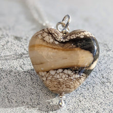 Load image into Gallery viewer, Rocky Beach Ivory Heart Pendant (B)