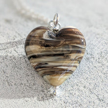 Load image into Gallery viewer, Rocky Beach Ivory Heart Pendant (A)