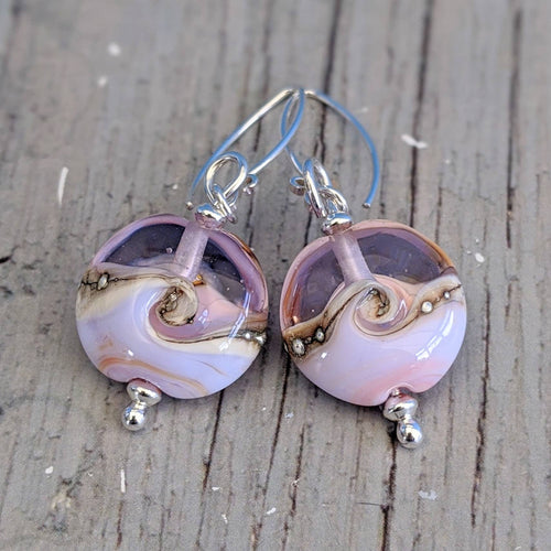 Seashell Lentil Earrings