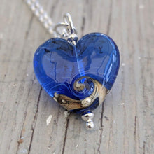Load image into Gallery viewer, Little Blue Heart Pendant