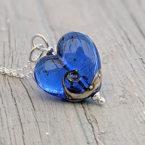 Little Blue Heart Pendant