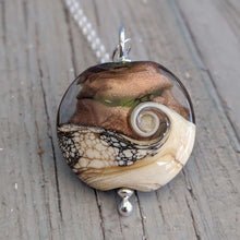Load image into Gallery viewer, Copper Sparkle Lentil Pendant