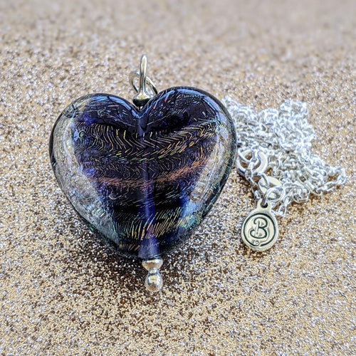 Starlight Rainbow Heart Pendant