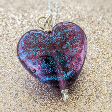 Load image into Gallery viewer, Starlight Spiced Plum Heart Pendant
