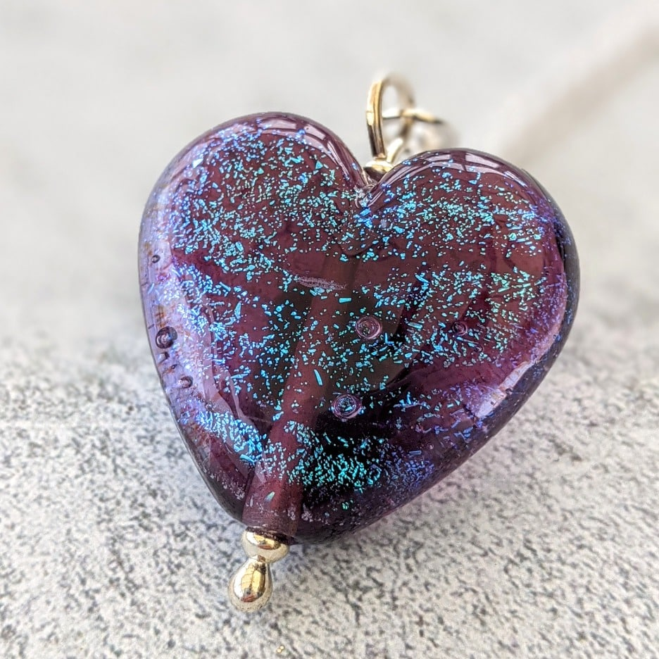 Starlight Spiced Plum Heart Pendant