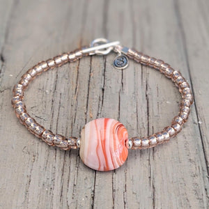 Seaside Sunset Lentil Bracelet